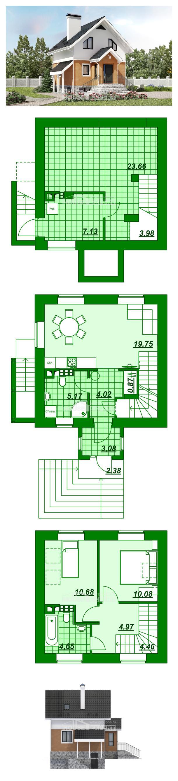 Проект дома 100-005-Л   House Expert